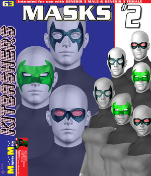 Masks v002 MMKBG3 3D Figure Assets MightyMite