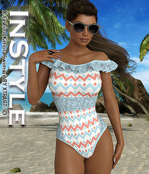 InStyle - X-Fashion Kimora Swimsuit 3D Figure Assets -Valkyrie-