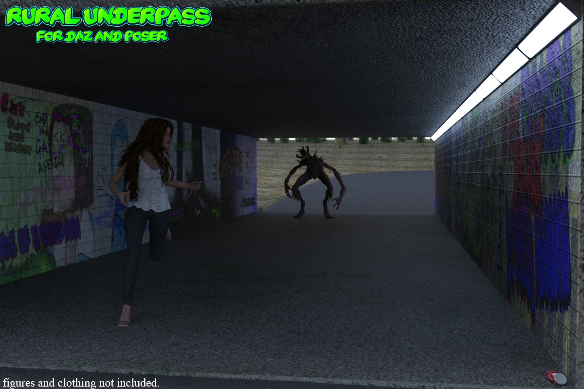 Rural Underpass for Daz and Poser