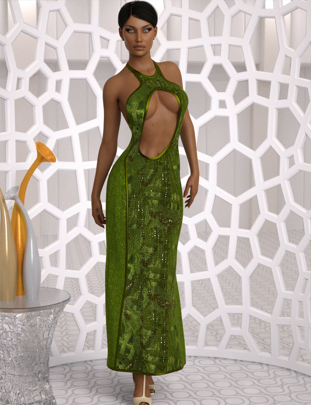InStyle - dForce Chic Couture Gown for Genesis 8 Females