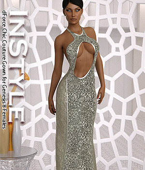 InStyle - dForce Chic Couture Gown for Genesis 8 Females 3D Figure Assets -Valkyrie-