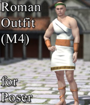 Roman Outfit for M4 and Poser  3D Figure Assets VanishingPoint