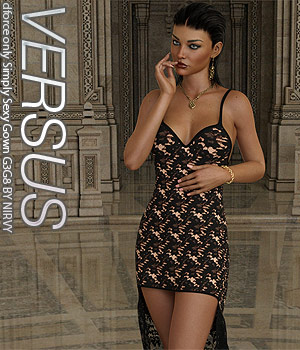 VERSUS - dforce only Simply Sexy Gown G3G8 3D Figure Assets Anagord