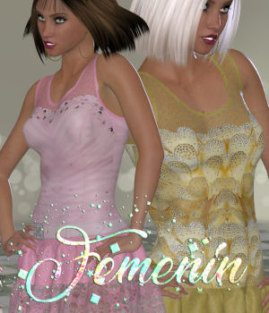 DA-Femenin for Sina Dress For La Femme V4 PE and Dawn 3D Figure Assets La Femme Pro - Female Poser Figure DarkAngelGrafics