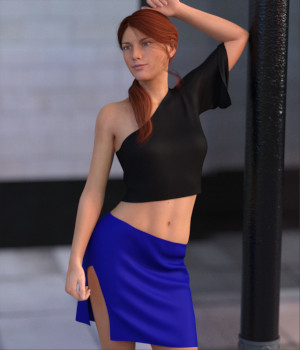dForce Arch Blouse and Skirt 3D Figure Assets archast