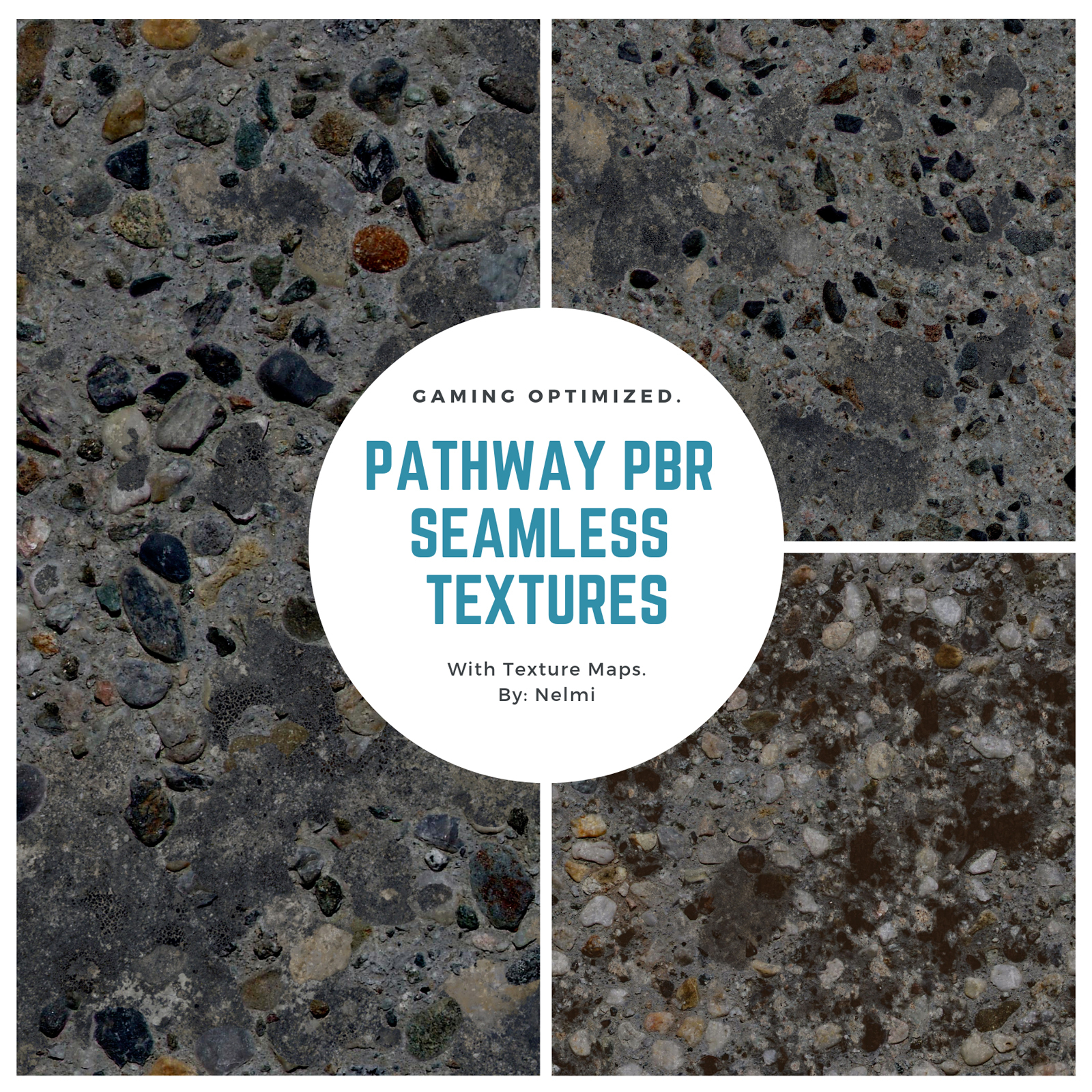 10 Pathway PBR Seamless Textures - MR by nelmi