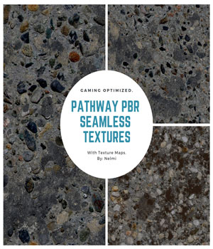 10 Pathway PBR Seamless Textures - MR 2D Graphics Merchant Resources nelmi