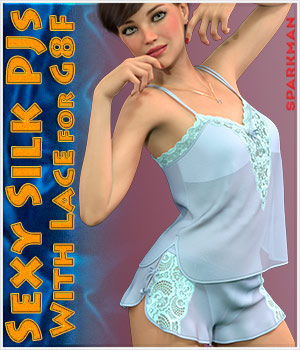 dForce Sexy Silk PJs With Lace for Genesis 8 Female 3D Figure Assets sparkman