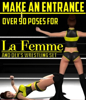 Make an Entrance Poses for La Femme 3D Figure Assets La Femme Pro - Female Poser Figure DexPac