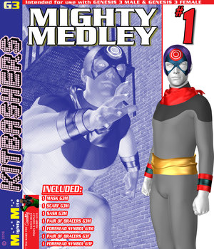 Mighty Medley 001 MMKBG3 3D Figure Assets MightyMite