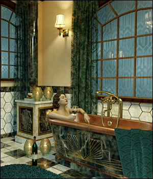 The Art Deco Bath 3D Figure Assets Moyra