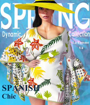 Spring Collection: Spanish Chic La Femme V4 3D Figure Assets La Femme Pro - Female Poser Figure ShaaraMuse3D