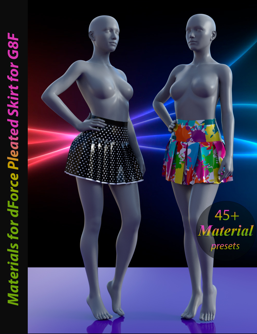 Materials for dForce Pleated Skirt