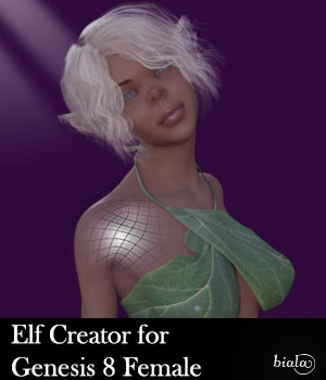 Elf Creator for Genesis 8 Female 3D Figure Assets biala