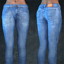 Exnem Jeans for Genesis 8 Female image 2