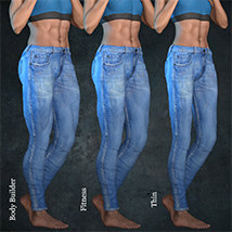 Exnem Jeans for Genesis 8 Female image 8