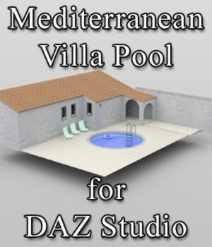 Mediterranean Villa Pool for DAZ Studio 3D Models VanishingPoint