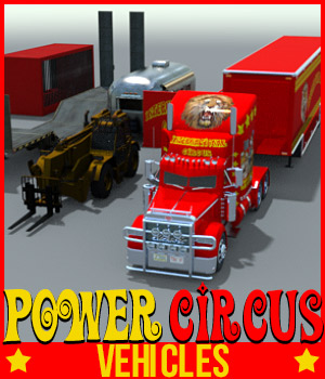 POWER CIRCUS VEHICLES for DS Iray 3D Models powerage