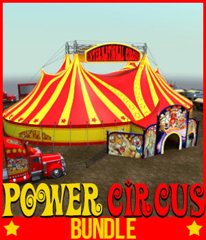 POWER CIRCUS BUNDLE for DS Iray 3D Models powerage
