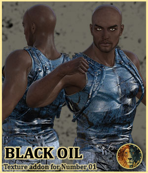 Blackoil for Lyone's Number 01 outfit 3D Figure Assets Lyone