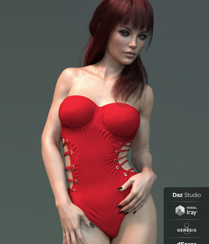 X-Fashion Ribbed Swimsuit for Genesis 8 Female(s) 3D Figure Assets xtrart-3d