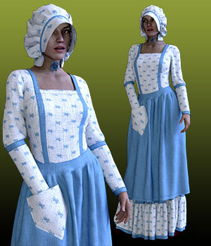 dForce Prairie Queen For GF8 Daz Studio Iray 3D Figure Assets BlueIrene