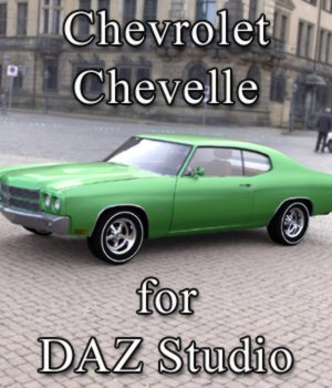 Chevrolet Chevelle for DAZ Studio 3D Models Digimation_ModelBank