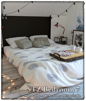STZ Bedroom 7  3D Models santuziy78