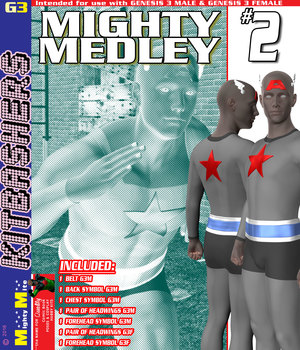 Mighty Medley 002 MMKBG3 3D Figure Assets MightyMite