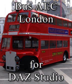 Bus AEC London for DAZ Studio 3D Models Digimation_ModelBank
