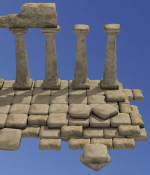 Ancient Ruins - Extended License 3D Game Models : OBJ : FBX 3D Models Extended Licenses VALKERU64BITS