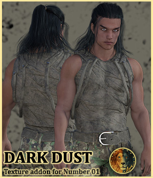 Dark Dust for Lyones Number 01 outfit 3D Figure Assets Lyone
