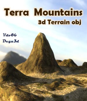 Terra Mountains - Extended License 3D Game Models : OBJ : FBX 3D Models Extended Licenses Dega3d