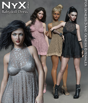 NyX dForce Babydoll Dress 3D Figure Assets Rhiannon