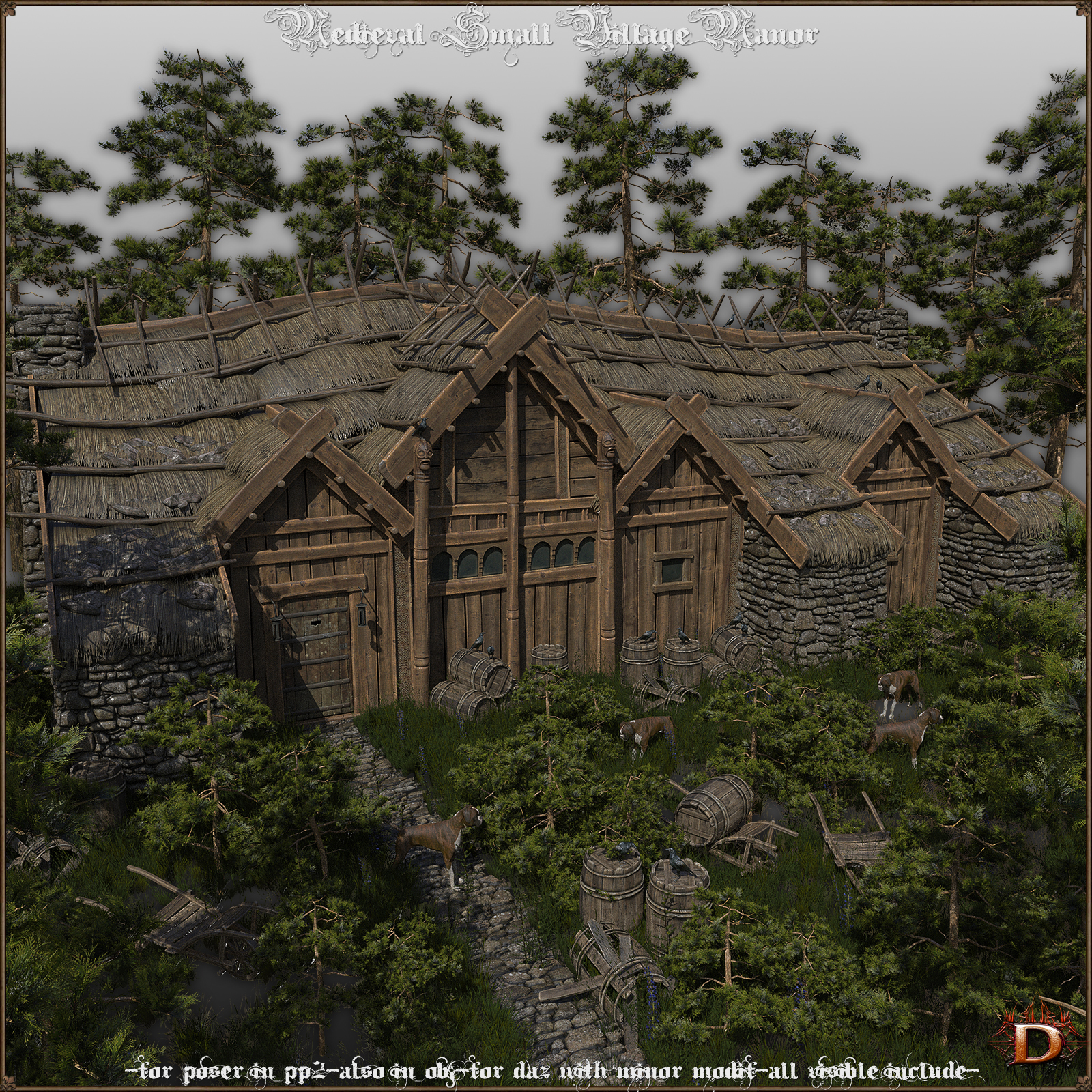 Medieval Small Village Manor by Dante78