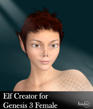 Elf Creator for Genesis 3 Female 3D Figure Assets biala