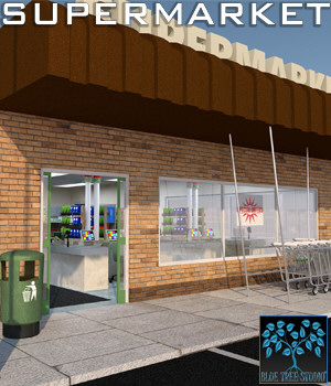 Supermarket for Poser 3D Models BlueTreeStudio