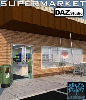 Supermarket for Daz Studio 3D Models BlueTreeStudio