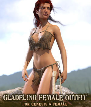 Gladeling Female Outfit for G8F 3D Figure Assets sixus1