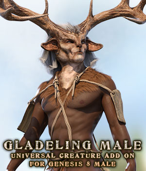 Gladeling Male for G8M 3D Figure Assets sixus1