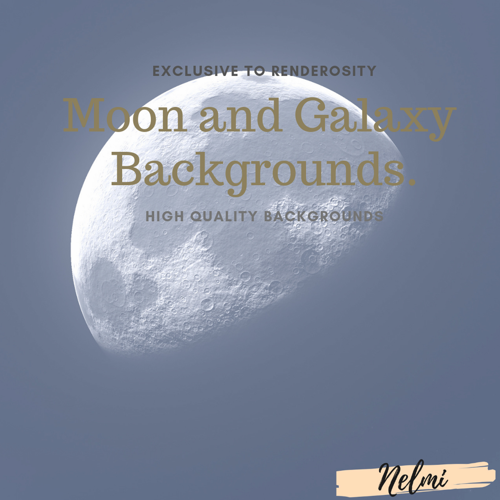 Moon and Galaxy Backgrounds by nelmi