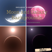 Moon and Galaxy Backgrounds image 1
