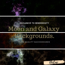 Moon and Galaxy Backgrounds image 2