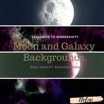 Moon and Galaxy Backgrounds image 3