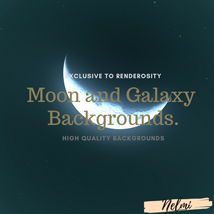Moon and Galaxy Backgrounds image 4