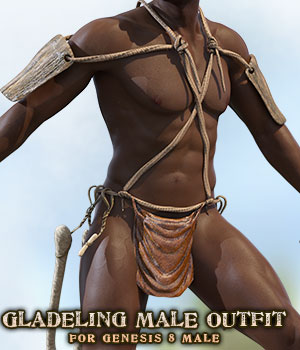Gladeling Male Outfit for G8M 3D Figure Assets sixus1