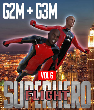 SuperHero Flight for G2M and G3M Volume 6 3D Figure Assets GriffinFX