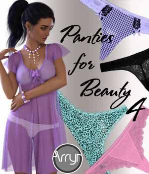 Panties for Beauty G8F 4 3D Figure Assets Arryn
