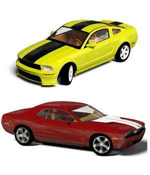 Budget Pony Cars 3D Models willyb53