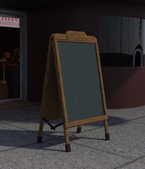 Street Blackboard - Extended License 3D Models imagebos